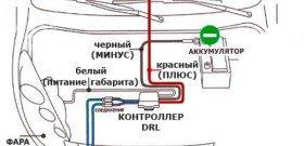 На фото - схема подключения ДХО, 4autoshop.ru
