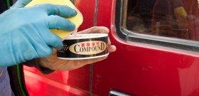 На фото - абразивная полировка кузова авто, kangaru.ru
