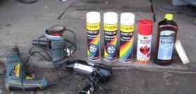 Фото краски и инструментов для покраски дисков авто своими руками, лада2111.рф