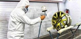 На фото - как покрасить диски автомобиля, ufauto.ru