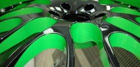 Фото двусторонней покраски дисков авто, r22.by