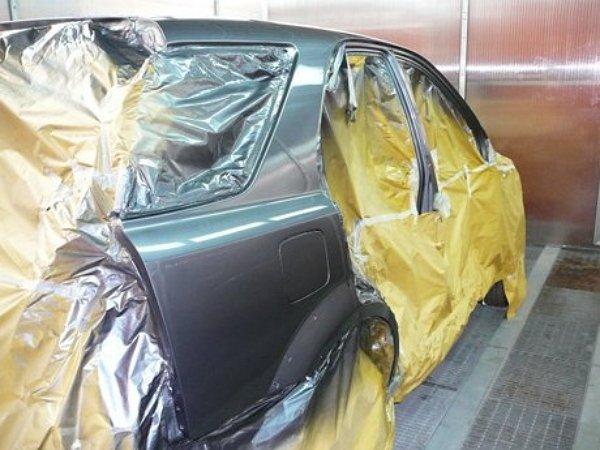 покраска авто в гараже видео