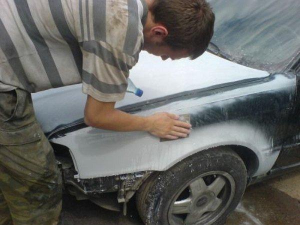 Фото подготовки машины к покраске своими руками