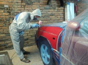 Фото покраски машины своими руками в малярной маске, drive2.ru