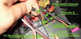 Фото точек подключения сигнализации к автомобилю, autosiga.ru