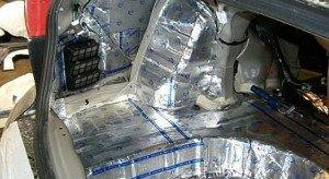 На фото - шумоизоляция багажника автомобиля, avtobazar.infocar.ua