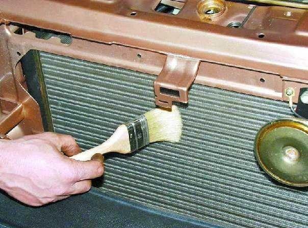 Фото наружной чистки радиатора авто