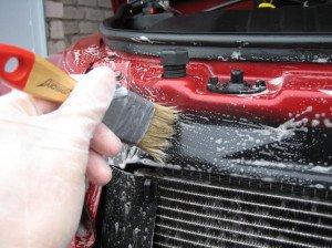 На фото - наружная мойка радиатора, forum.car-care.ru