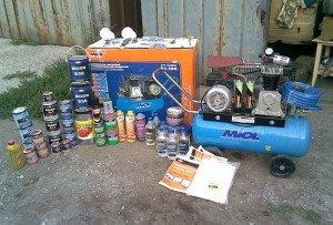 Фото материалов и оборудования для покраски авто, xenon-kiev.com.ua
