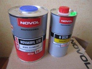На фото - акриловый лак для покраски авто в металлик, drive2.ru