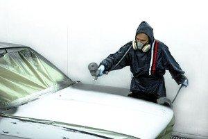 На фото - технология покраски автомобиля в металлик, stroy.kn.kz
