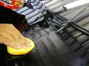 Фото полировки автомобиля после покраски абразивной пастой, car-detailing-sydney.com