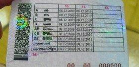 Фото примера водительских прав, pdcr.ru