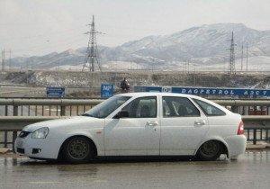 Фото автомобиля с заниженной подвеской, fishki.net