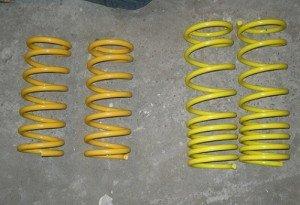 Фото уменьшение витков пружин амортизаторов для снижения подвески, v-lada.ru