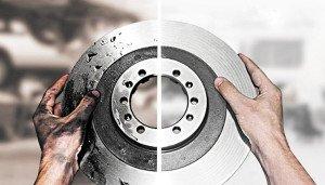 На фото - как определить изношенность тормозного диска, autocentre.ua