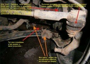 Фото возможных причин стука и скрипа передней подвески, moi-nissan.ru