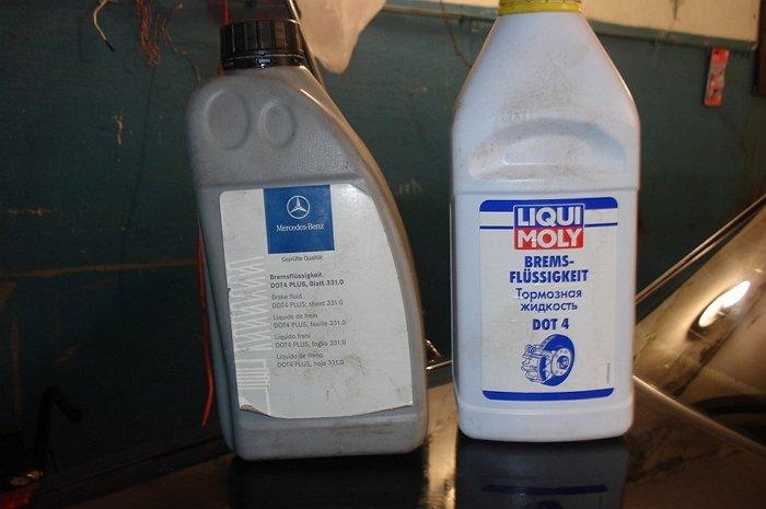 Фото смешивания тормозных жидкостей