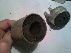 Фото загрязненного фильтра тонкой очистки топлива, forum.skoda-club74.org