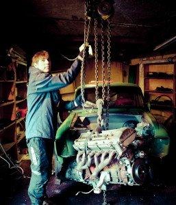 Фото установки автомобильного двигателя, drive2.ru