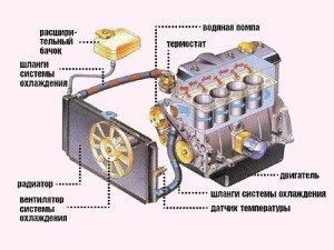 На фото - схема системы охлаждения автомобиля, zero-100.ru