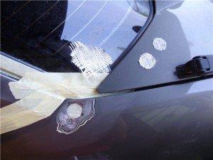 Фото заделки дыр на кузове авто шпаклевкой и стекловолокном, vaz-2106.ru6