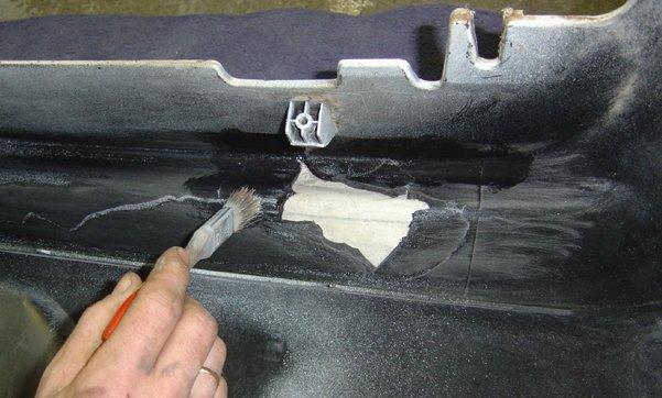 Фото склеивания пластикового бампера