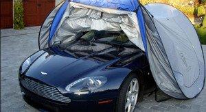 На фото - консервация автомобиля тентом, club-cars.ru