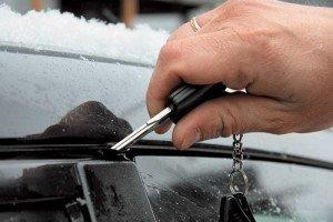 Фото примерзшей двери автомобиля, moyamashinka.com