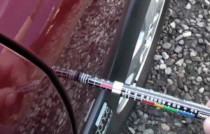 Фото определения дефектов кузова авто толщиномером, youtube.com