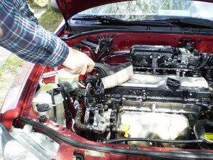 Фото чистки двигателя от мусора щеткой, forum.avtomoika.com
