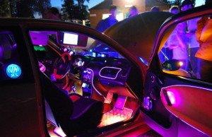 Фото светодиодной подсветки в салоне авто, buksir.in.ua