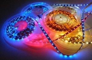 На фото - комплект светодиодной подсветки для салона авто, gos-tuning.ru
