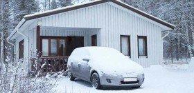 На фото - прогрев автомобиля зимой, diaginfo.ru