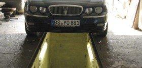 На фото - освещение смотровой ямы в гараже, forums.mg-rover.org