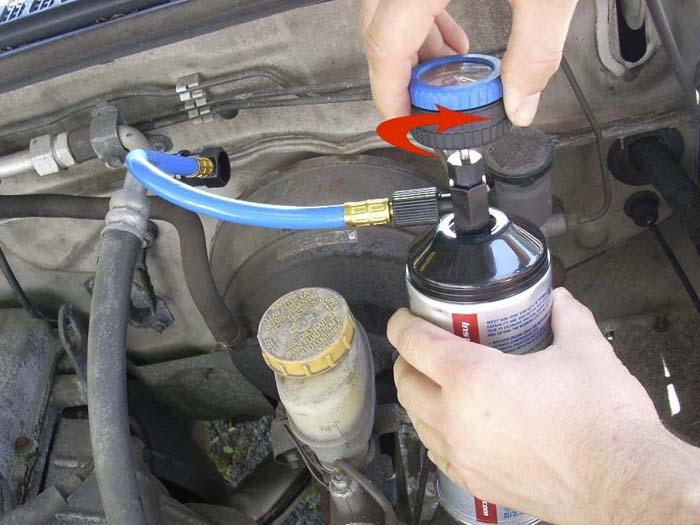 Заправка фреона в авто своими руками