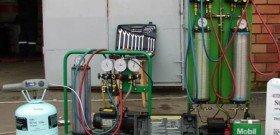 На фото - оборудование для диагностики и заправки автокондиционеров, avtokond34.ru