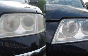 Фото фар до и после полировки, motorpuls.ru