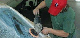Фото полировки лобового стекла, avtomobile.cc