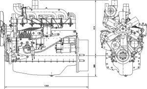 На фото - схема дизельного двигателя, ms-el.com