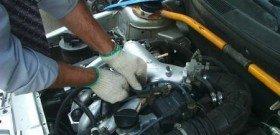 Фото подготовки к замеру компрессии дизельного двигателя, avtowithyou.ru