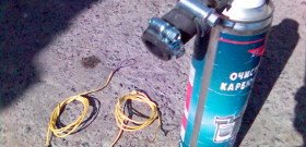 Фото процесса промывки инжектора, zufa66.narod.ru