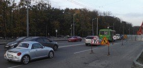 Фото дорожного знака сужение дороги, mediaport.ua