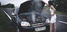 На фото - перегрев дизельного двигателя, auto62.info