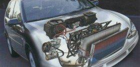 На фото - система охлаждения, предотвращающая перегрев дизельного двигателя, chopper-bike.ru