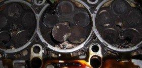 На фото - результат не правильной эксплуатации дизельного двигателя, фото - как правильно эксплуатировать дизельный двигатель, autotechnoland.kiev.ua