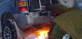 На фото - эксплуатация дизельного двигателя зимой, bm.img.com.ua