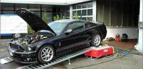 На фото - диагностика потери мощности двигателя, vtech-tuning.ru