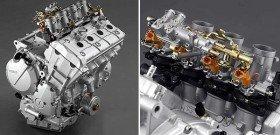 На фото - мотоциклетные двигатели с двухтактным рабочим циклом двигателя, bikepost.ru