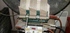 Фото ремонта пореза боковых порезов грузовых шин вулканизатором, shinka-ufa.ru